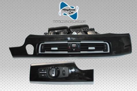Original Interieurleiste Frischluftdüse und Licht Schalter Inklusive Dekor Blende Holz BMW 7 F01 F02 LCI 9232145 9192744