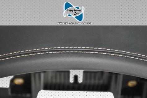 1x Neu Original Armaturenbrett Leather Dashboard Porsche Cayenne 2018 Leder Weißem Faden 9Y18570033P - Vorschau 3