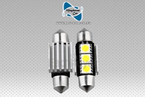 2 Canbus Soffitte 3 SMD LED Birne Lampe Sofitte 36mm Seat Ibiza Leon Altea Exeon