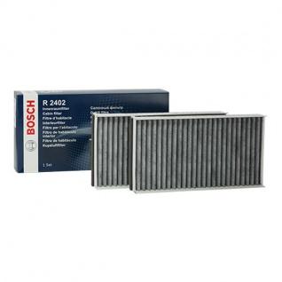 2x Neu Original BOSCH Aktivkohlefilter Innenraumfilter Pollenfilter Mikrofilter Bmw 5 E60 E61 6 E63 E64 Bosch Nr.1987432402
