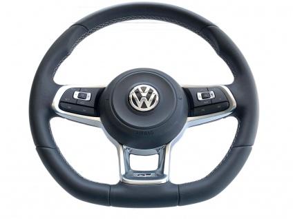 1x Original Leder Lenkrad Multifunktion R-Line mit weißem Faden VW Tiguan Golf 7 VII Passat Touran Arteon 2G0419091