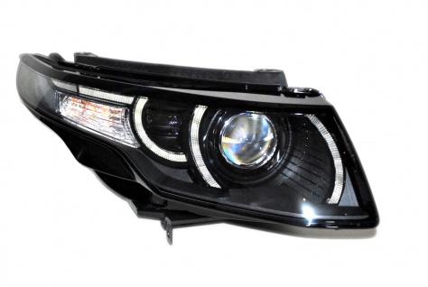 1x Neu Original Scheinwerfer Xenon Bi-Xenon Schwarz Black Ohne Kurvenlicht / Not Adaptive Range Rover Evoque