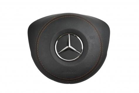 1x Neu Original AirBag Lenkrad Schwarzes Leder mit Brauner Faden Mercedes W205 sports AMG