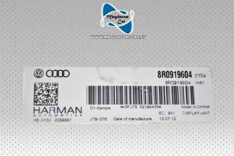 Neu Original Monitor LCD Display Bildschirm Navi Harman Audi A4 Q5 Q7 8R0919604A - Vorschau 3