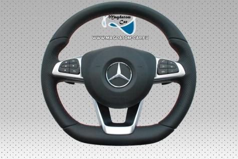 Neu Original AMG DSG Lenkrad Steering Wheel Schwarzes Leder mit Rotem Faden Airbag + Schaltwippen + Multifunktion Mercedes CLS C218 CLA W117 W176 W246 A205 A156 A172 A0004603403 9E38