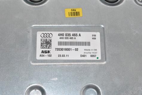Neu Original Verstärker Bang & Olufsen B&O Amplifier 4H0035465A Audi A6 S6 A7 S7 A8 D4 4H - Vorschau 4