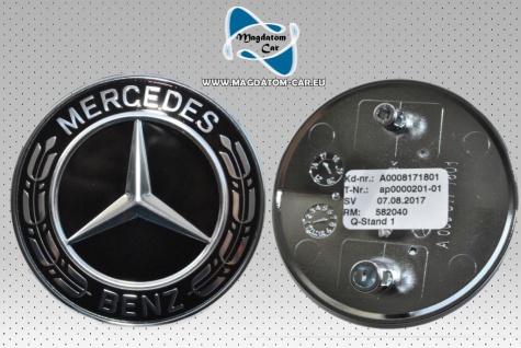 Neu Original Emblem Schwarz Logo Stoßfänger 56mm Mercedes SLK CLA SL GLA A SLC W246 A0008171801