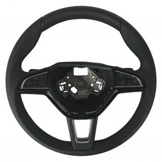 Neu Original Lenkrad DSG Steering Wheel Schwarz Leder + Multifunktion Skoda SuperB Kodiaq Octavia Fabia Rapoid Roomster Yeti 5E0419685A