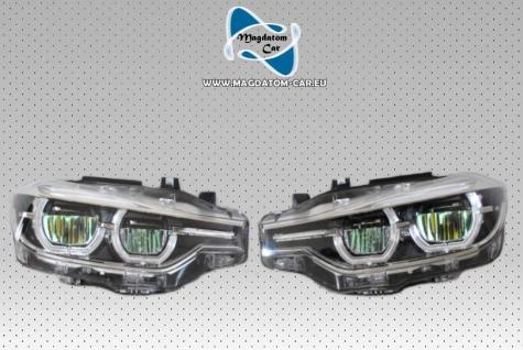 2x NEU ORIGINAL VOLL LED SCHEINWERFER OHNE KURVENLICHT BMW 3' F30 F31 LCI 7419633