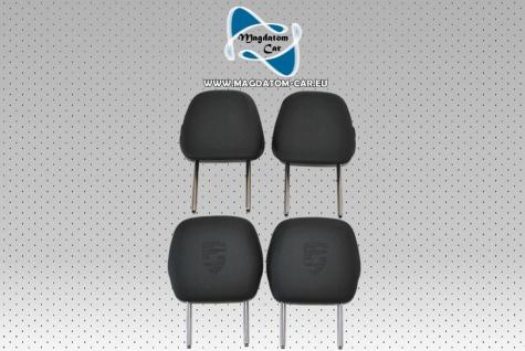 4x Neu Original Set Kopfstütze Headrest Leder Schwarz Porsche Cayenne 958