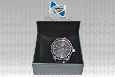 Neu Original Armbanduhr Uhr Herren Bmw M 80 26 2406693 Edelstahlgehäuse Schwarzes Zifferblatt