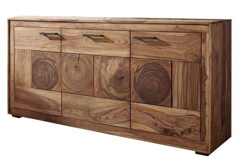 Sideboard Akazienholz massiv natur Kommode 3 Türen Nora I - Vorschau 2