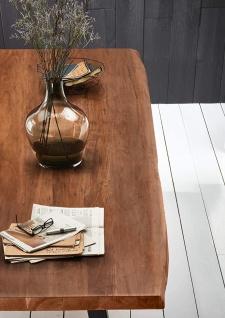 Baumkantentisch Esstisch Akazie Nussbaum 300 x 110 cm schwarz Valin - Vorschau 4
