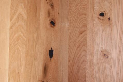 Baumkantentisch Esstisch Wildeiche 200 x 100 cm weiß SERRA - Vorschau 5