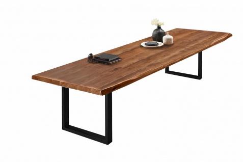 Baumkantentisch Esstisch Akazie Nussbaum 300 x 110 cm schwarz Valin - Vorschau 3