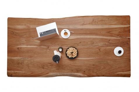 Tischplatte Baumkante Akazie Natur 140 x 80 cm NOAN