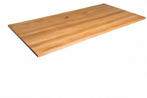 Tischplatte Baumkante Wildeiche 140 x 80 cm SERRA