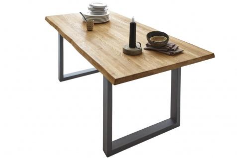 Baumkantentisch Esstisch Wildeiche 240 x 100 cm silber RICHARD - Vorschau 2