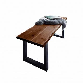 Sitzbank Baumkante 200 cm nussbaum massiv Akazie schwarz ANNI