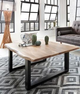 Couchtisch Baumkante 120 x 80 cm Akazie naturfarben schwarz