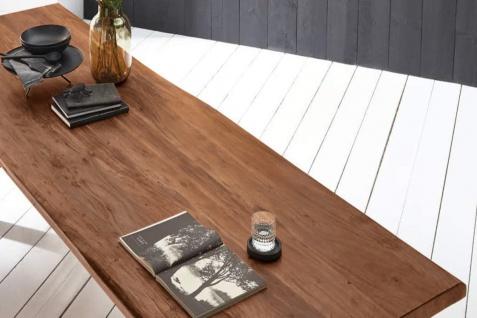 Baumkantentisch Esstisch Akazie Nussbaum 300 x 110 cm schwarz Valin - Vorschau 5