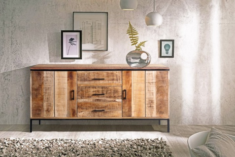 Sideboard Kommode Mangoholz massiv 160 x 80 x 40 cm ARTA 3 by Wolf Möbel