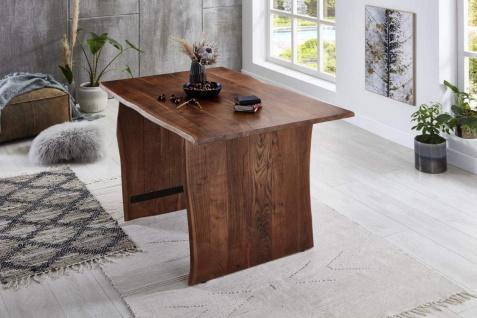 Baumkantentisch Esstisch Akazie Nussbaum 200 x 100 cm Holzgestell Henry