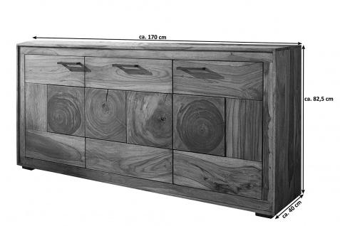 Sideboard Akazienholz massiv natur Kommode 3 Türen Nora I - Vorschau 3
