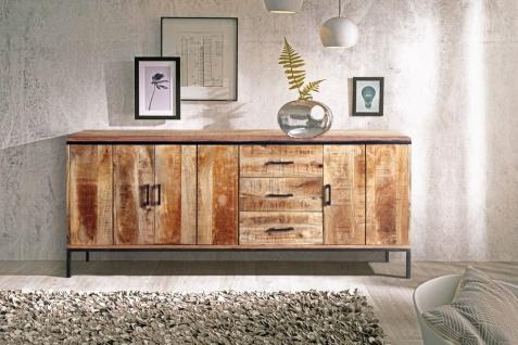Sideboard Kommode Mangoholz massiv 180 x 80 x 40 cm ARTA 2 by Wolf Möbel