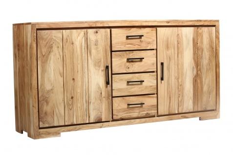 Sideboard 176 x 45 x 85 cm Akazienholz massiv & natur SARAH