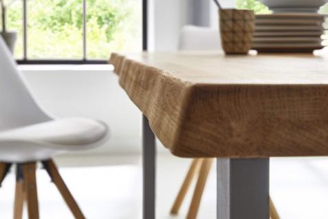 Baumkantentisch Esstisch Wildeiche 240 x 100 cm silber RICHARD - Vorschau 4