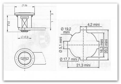 Briefkastenschloss/Hebelzlinder R1 passend für Renz 97-9-95085 mit 4 Schlüssel - Vorschau 4