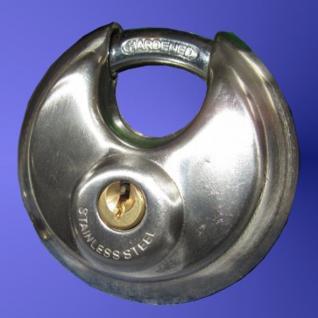 Vorhangschloss mit 2 Schlüsseln, Anzahl der Einheiten 1