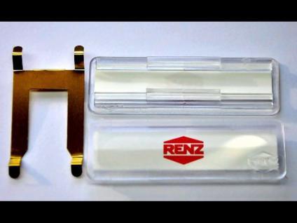 Renz Namensschild 65 x 22mm m.Feder f.Briefkastenklappe 97-9-00302