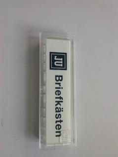 JU Namenschild 10erPack 67 x 22 mm Stanzmaß 61x18mm (21-255)Kunststoff, glasklar