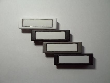 Licht-Klingeltaster Lira KombitasterKunststoff passend für Renz und Sykonteg Namenschild