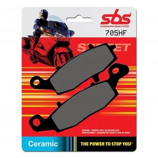 Bremsbelag SBS 705HF Street Ceramic Kawasaki ER 5 6 GPZ 1100 KLR 650 Versys VN Zephyr Suzuki Bandit V-Storm Intruder Gladius