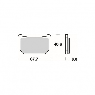Bremsbelag SBS 539HF Street Ceramic Kawasaki GPZ Z 79-13 - Vorschau 2