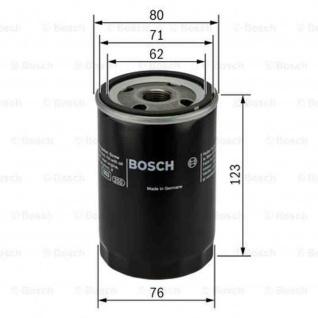 Bosch Ölfiter VW 0451103033 Filtereinsatz, Ø 80 mm, Höhe 123 mm 72150P OF-VW-1 P3033