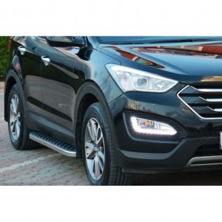 Trittbretter Hyundai Santa Fe ab Baujahr ab 2013 - 2018 Model Hitit in chrom