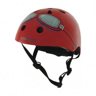 Kiddimoto Helm Goggle rot Größe S - 48-53 cm, geprüft nach EC EN1078