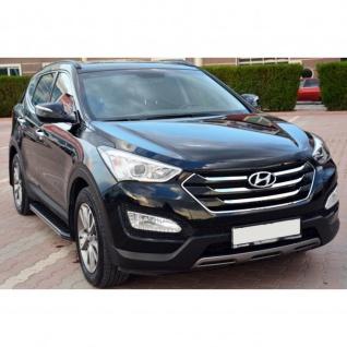 Trittbretter Hyundai Santa Fe ab Baujahr 2013 - 2018 Model Olympus in Schwarz