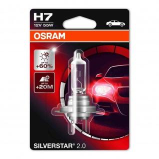 SILVERSTAR® 2.0 H7 Einzelblister H7 ECE 12 Volt 55 Watt PX26d Sockel Abblendlicht/Fernlicht/Nebellicht