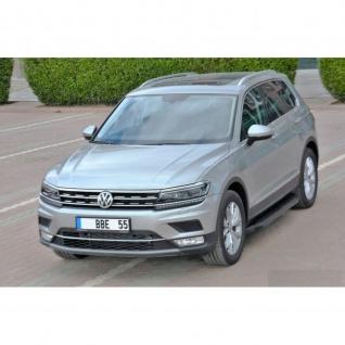 Trittbretter VW Tiguan ab Baujahr 2016 Model Ares in Schwarz