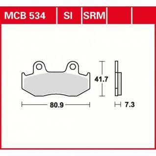 MCB534 Bremsbelag Honda MTX SCv CR SH XL NES XL-R XR-R