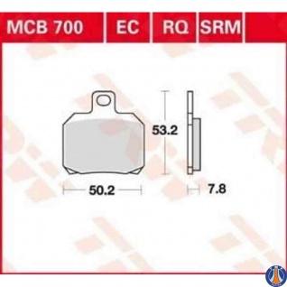MCB700EC Bremsbelag Scooter bis 125 CCM