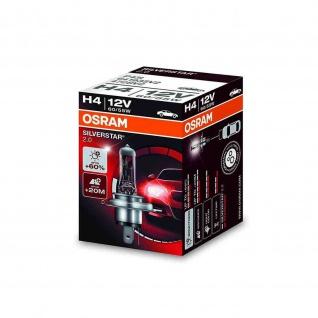 SILVERSTAR® 2.0 H4 Faltschachtel H4 ECE 12 Volt 60/55 Watt P43t Sockel Abblendlicht/Fernlicht