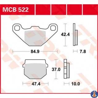 MCB522 Bremsbelag Honda Kawasaki Malaguti Sachs Simson Suzuki RM 80 TGB 50