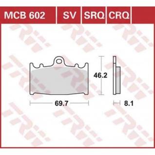 MCB602CRQ Bremsbelag Husaberg FS 450 650 Kawasaki GPZ Ninja ZX-11 ZX-6R ZXR ZZR Suzuki Bandit GSX GSX-R