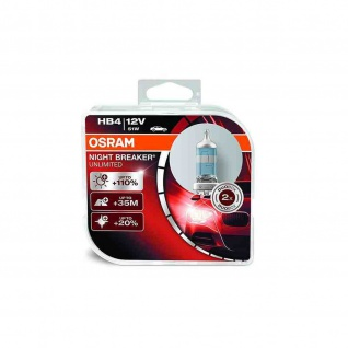 NIGHT BREAKER® UNLIMITED HB4 Duobox HB4 ECE 12 Volt 51 Watt P22d Sockel Abblendlicht/Fernlicht/Nebellicht
